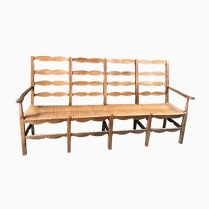 Vintage 4-Seater Church Bench