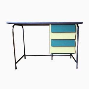 Mehrfarbiger italienischer Schreibtisch aus Stahlrohr und Resopal, 1950er