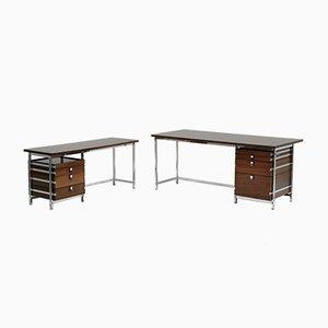 Set di scrivanie ad angolo vintage di Jules Wabbes