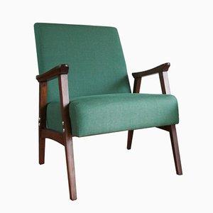 Vintage Bulgarian Linen Lounge Armchair, 1965