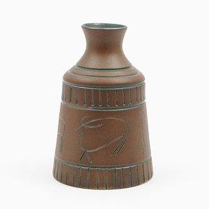 Jarrón de cerámica de Krukmakaren Ystadt, años 50