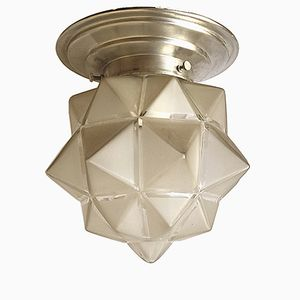 Art Deco French Starburst Flush Mount or Wall Lamp, 1930s