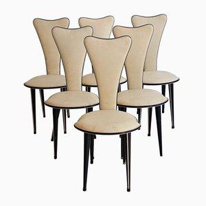 Italienische Esszimmerstühle von Umberto Mascagni, 1950er, 6er Set