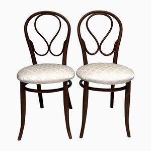 Antike Bugholz Stühle von Thonet, 2er Set