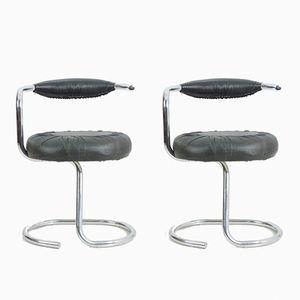 Cobra Chairs von Giotto Stoppino, 1970er, 2er Set