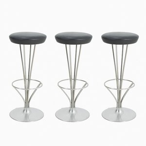 Bar Stools by Piet Hein for Fritz Hansen, 1976, Set of 3