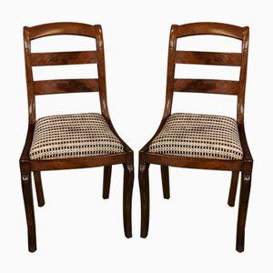 Chaises Antique en Acajou, Set de 2