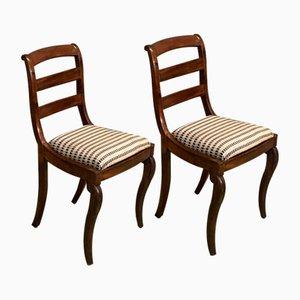 Antike Mahagoni Stühle, 2er Set