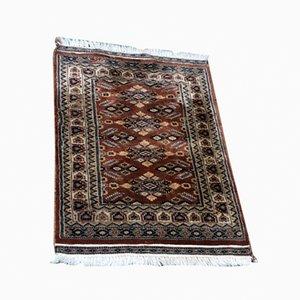 Handgearbeiteter Vintage Teppich in Wolle & Seide
