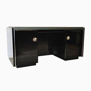 Art Deco Schreibtisch mit Lederplatte, 1930er