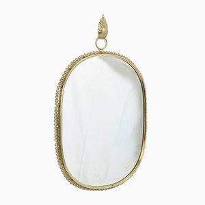 Specchio Mid-Century in ottone di Josef Frank per Svenskt Tenn
