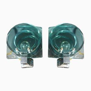 Lampade da parete di Cristal Art, anni '50, set di 2