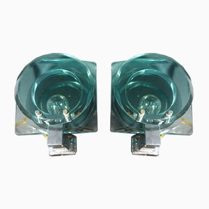 Vintage Wall Lights from Cristal Art, Set of 2
