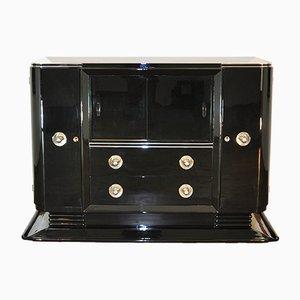 Aparador Art Déco lacado en negro piano, años 20
