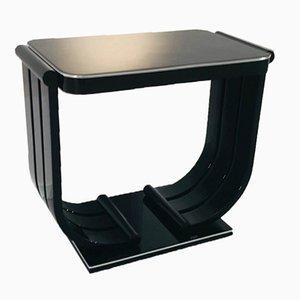 Mesa consola Art Déco lacada en negro piano, años 20