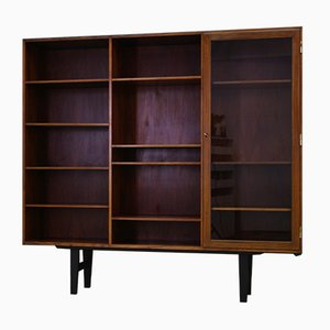 Rosewood & Glass Bookcase by Kai Winding, 1960s