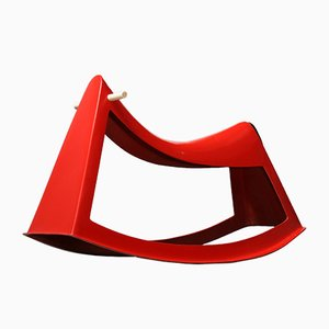 Red Rocking Fiberglass Sculpture by Walter Papst for Wilkhahn, 1960s