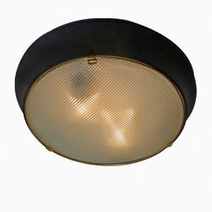 Lampada da soffitto in vetro di Murano, anni '50