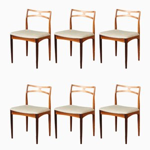 Rosewood Dining Chairs by Johannes Andersen for Christian Linnebergs Møbelfabrik, Set of 6