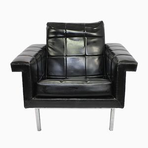 Chrome & Black Skai Club Chair, 1960s