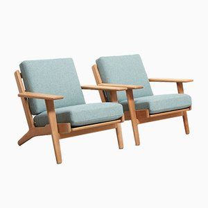 Model GE-290 Easy Chairs by Hans Wegner for Getama, 1950s, Set of 2