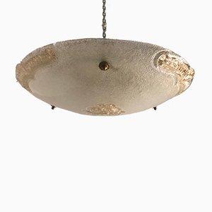 Lampada Mid-Century ad incasso in vetro di Murano