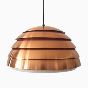 Swedish Copper Beehive Pendant Lamp by Hans-Agne Jakobsson, 1960s