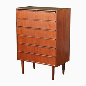 Mid-Century Danish Teak Chest with Six Drawers