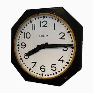 Achteckige Uhr von Brillié, 1950er