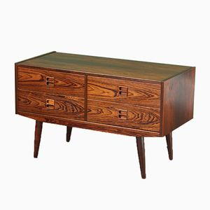 Danish Mid-Century Low Chest of Drawers in Rosewood