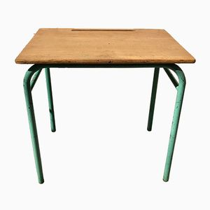 Vintage Industrial School Desk