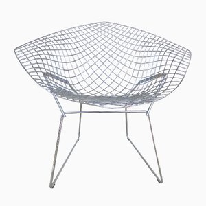 Chromed Diamond Chair by Harry Bertoia for Knoll Inc., 1985