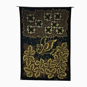 Textile Envolée Imprimé par Raymond Hurtu pour Braun & Cie, 1950s