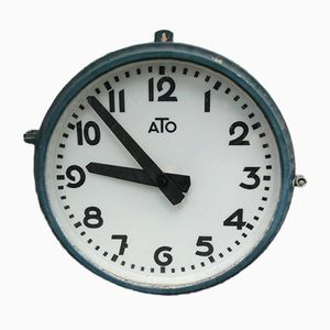 Large French Station Clock from Ato, 1960s