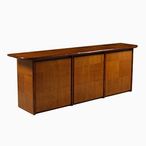 Vintage Italian Veneered Wood Sideboard, 1980s