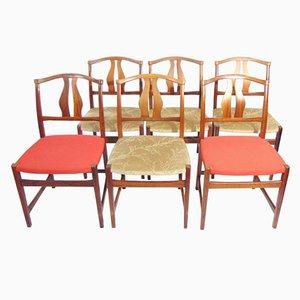 Schwedische Palisander Esszimmerstühle, 1960er, 6er Set
