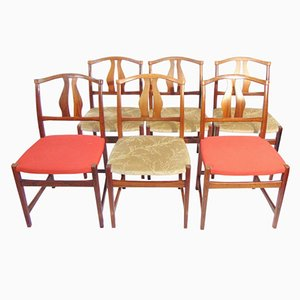 Swedish Rosewood Dining Chairs, 1960s, Set of 6