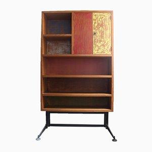 Libreria vintage in legno, anni '60