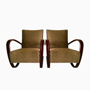 Vintage H269 Lounge Chairs by Jindřich Halabala for Thonet, Set of 2