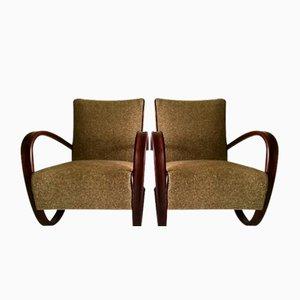 Vintage H269 Sessel von Jindřich Halabala für Thonet, 2er Set