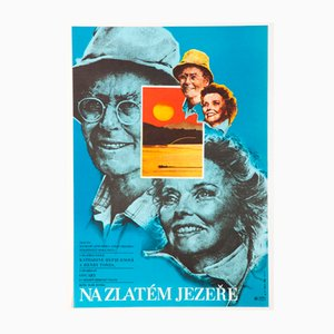 On Golden Pond Movie Poster by Karel Vaca, 1982