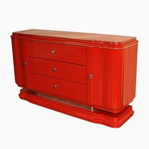 Mueble de salón Art Déco rojo, años 30