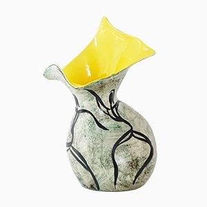 Vaso Mid-Century in ceramica di Joal, anni '50