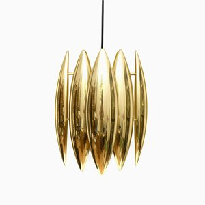 Mid-Century Brass Kastor Pendant Light By Jo Hammerborg for Fog & Mørup, 1960s