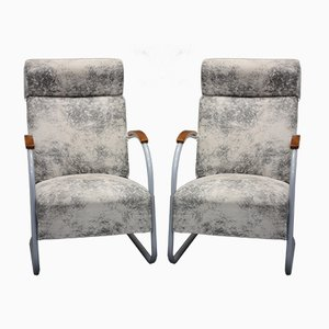 Art Deco Lounge Chairs from Mücke Melder, 1930s, Set of 2