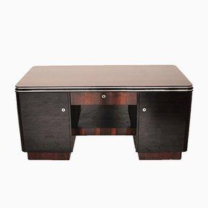 Schreibtisch aus Palisander mit Chromstangen, 1920er