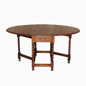 Antique Oak Oval Folding Table