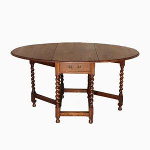 Tavolo antico pieghevole in quercia