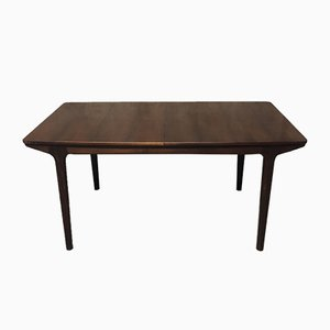 Large Mid-Century Palisander Extendable Dining Table by Tom Robertson for McIntosh