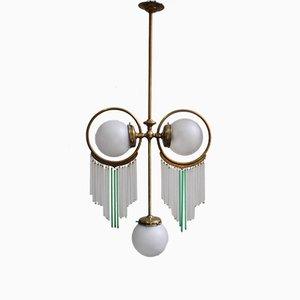 Antike Deckenlampe mit 3 Birnen